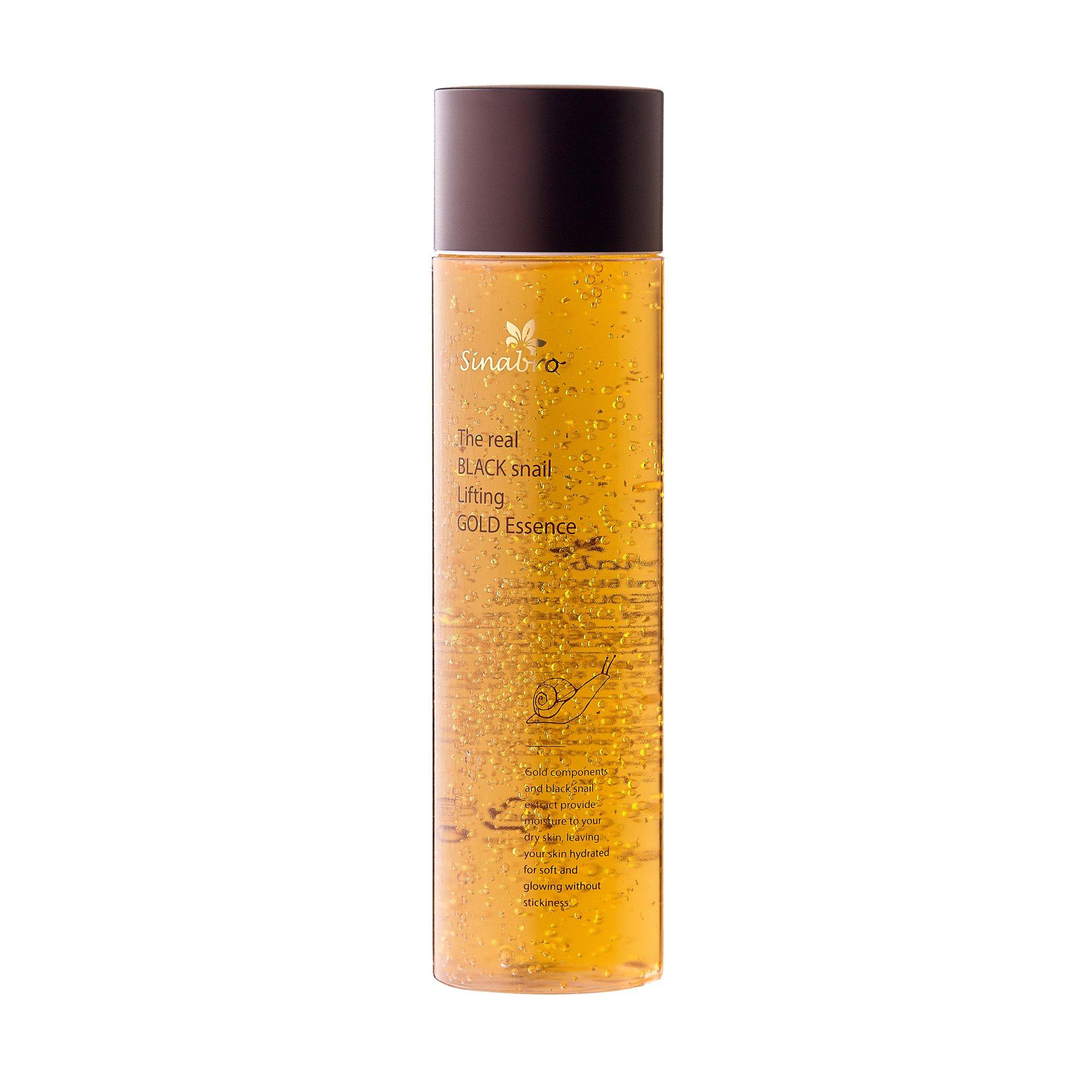 Эссенция золотая с лифтинг-эффектом Sinabro с экстрактом настоящей ЧЕРНОЙ улитки